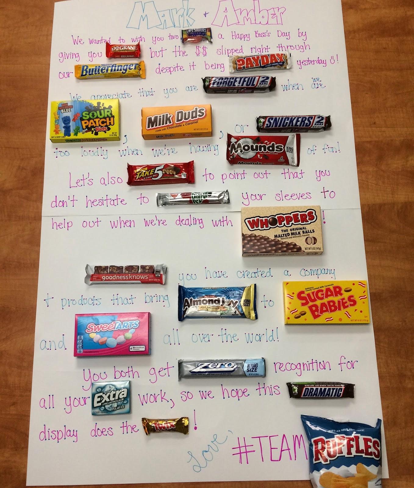 rufflebutts blog candy bar board