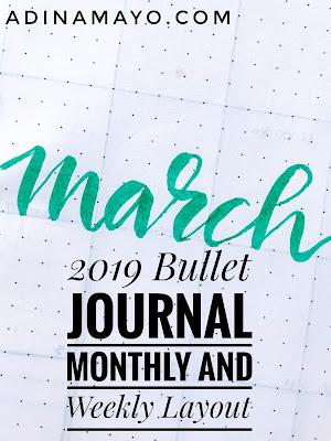 March 2019 Bullet Journal Set Up