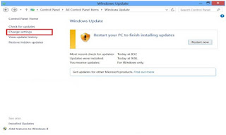 Cara Mematikan Auto Update Windows 8