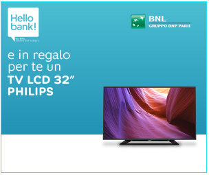 Hello Bank! Ti regala un TV LCD Philips 32""