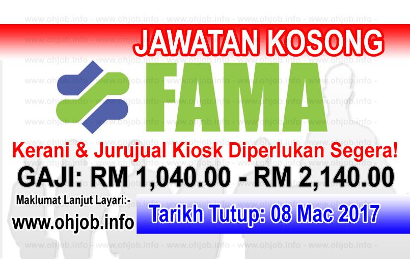 Jawatan Kerja Kosong FAMA - Lembaga Pemasaran Pertanian Persekutuan logo www.ohjob.info mac 2017