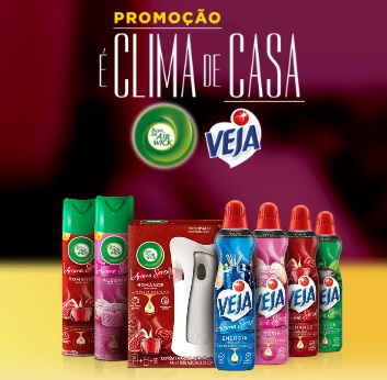 Cadastrar Promoção Veja É Clima de Casa 30 Mil Reais e Cafeteiras Todo Dia - Air Wick