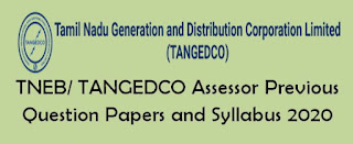 TNEB/ TANGEDCO Assessor Previous Question Papers and Syllabus 2020