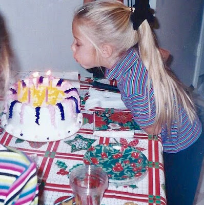 Ashley Benson throwback photo birthday cake blowing out candles