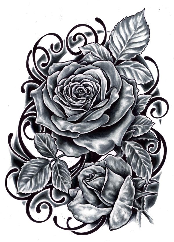 black rose tattoo designs ideas photos images memoir tattoos. Black Bedroom Furniture Sets. Home Design Ideas
