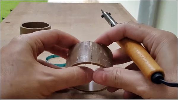 tubo plastico pvc quebrado
