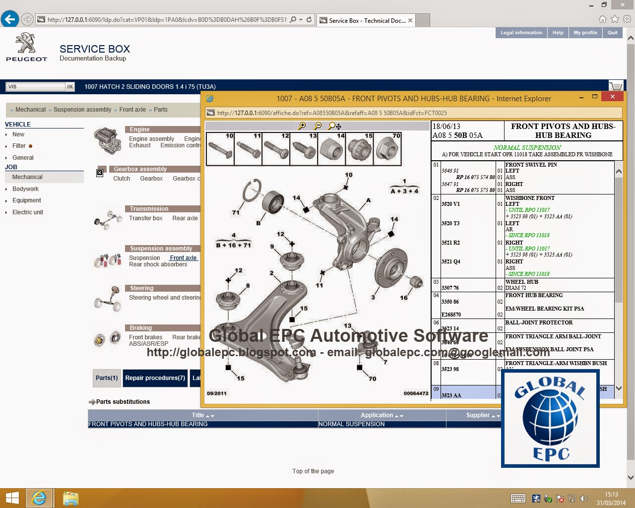 Automotive Wiring Diagrams Software Diagram For Motorcycle Alarm Global Epc Peugeot Service Box 11