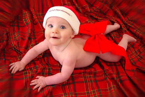 adorable Christmas baby display profile picture