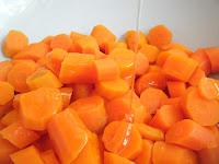 honey on steamed carrots