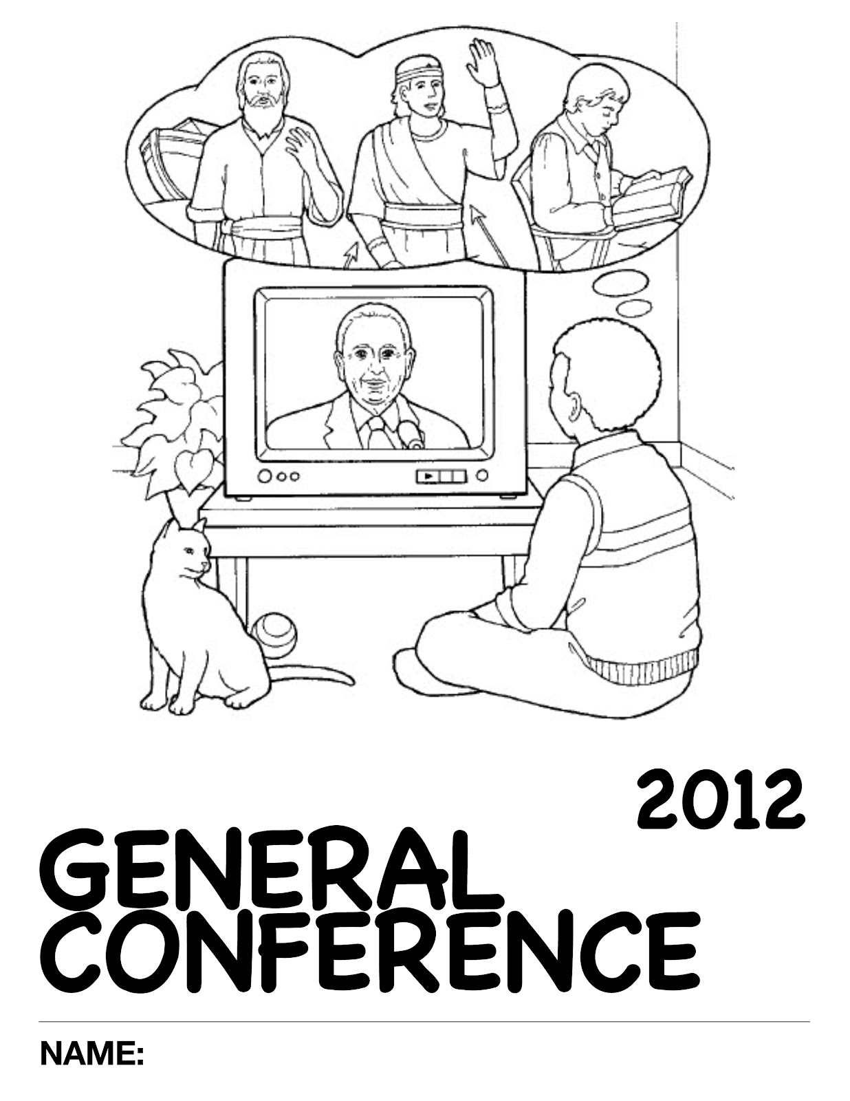 2012 General Conference Nursery Activity Packet Just One Mom Trying