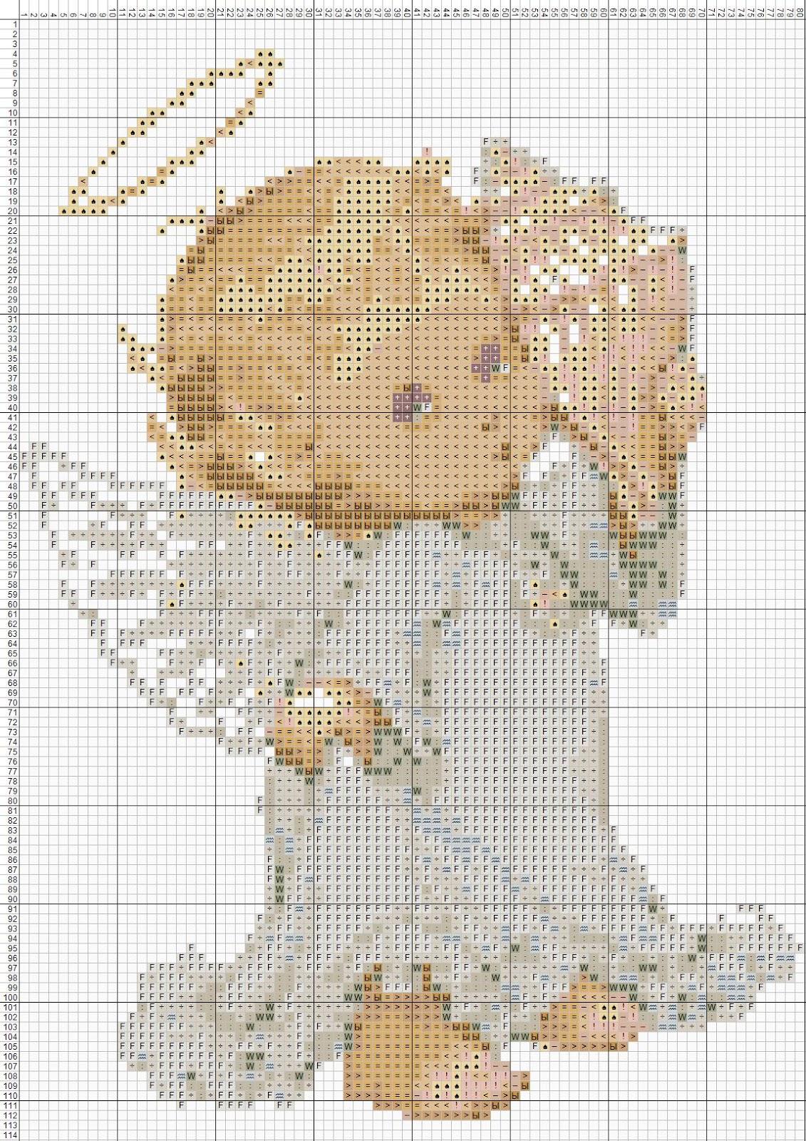 Схемы вышивки ангелочки маленькие
