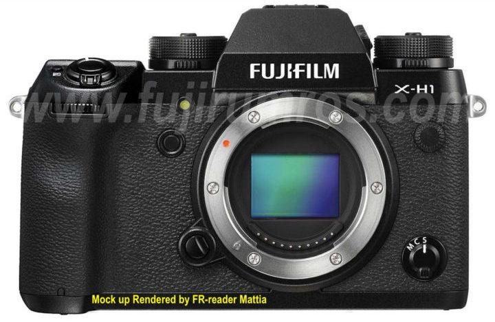 Возможный внешний вид Fujifilm X-H1, вид спереди