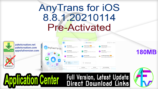 AnyTrans for iOS 8.8.1.20210114 Pre-Activated