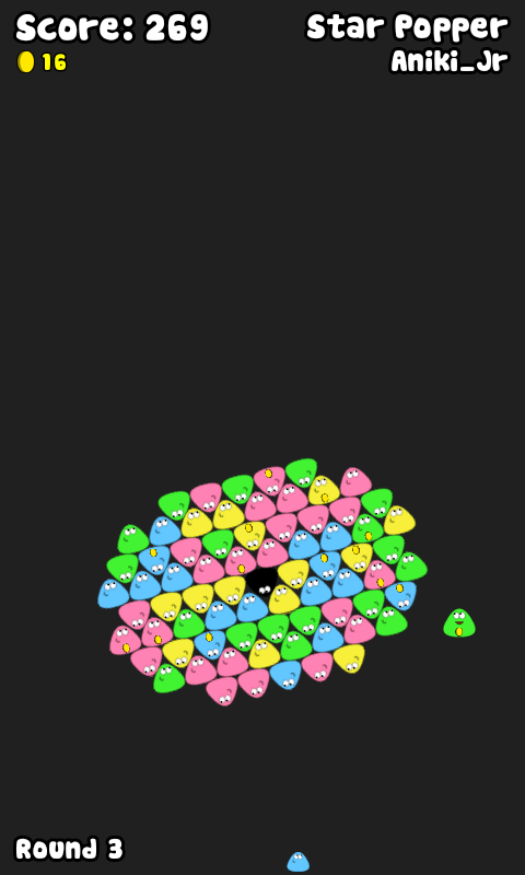 Star popper, a fast game for Pou