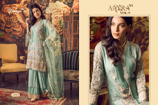 Cosmos Amyra Vol 9 Nx Pakistani Suits Collection in Wholesale Rate
