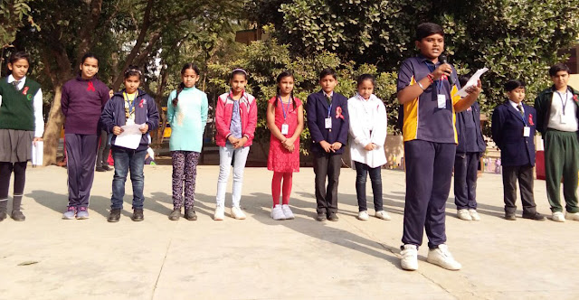 Awareness spread through children's program at Hammerton Grammer on 'AIDS Day'