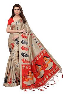 ANNI DESIGNER Khadi Silk with Blouse Piece Saree