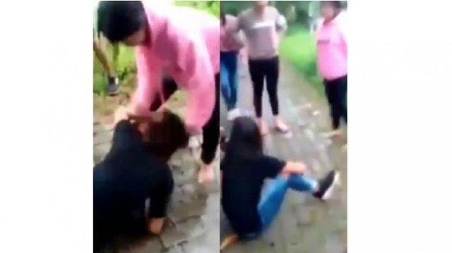 Video Perkelahian Viral, Kisah Cinta Segitiga Bikin Siswi SMP dan SMA Baku Hantam Saling Jambak