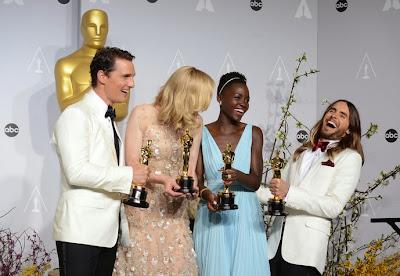 Oscars 2014 Matthew McConaughey, Cate Blanchett, Lupita Nyong'o et Jared Leto