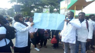 Nurses on strike at Pumwani hospital. PHOTO | CAPITAL