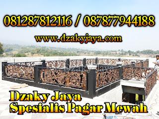 Jasa Pembuatan Pagar Balkon Besi Tempa Klasik