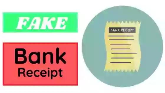 Fake Bank Receipt