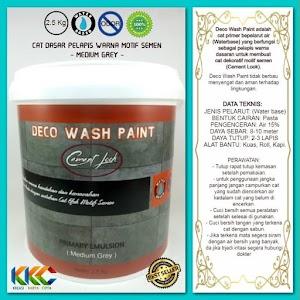 Cat Primer Wash Paint Motif Semen - Medium Grey - Kemasan 2.5 Kg