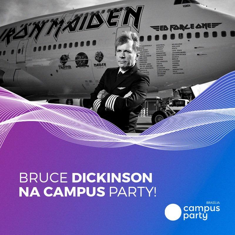 Bruce Dickinson é confirmado na Campus Party Brasília