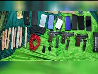 jhalawar local news Latest jhalawar hindi news jhalawar top headlines today 8 लोग हथियार व विस्फोटक के साथ गिरफ्तार