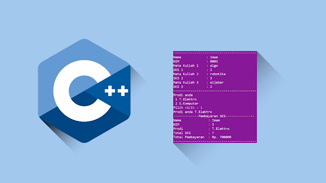 Contoh program C++ Percabangan if