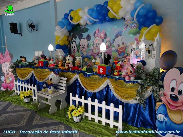 Decoração de aniversário Baby Disney para crianças de 1 ou 2 aninhos