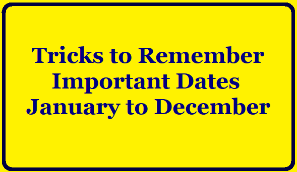 Tricks to Remember Important Dates/2019/11/Tricks-to-Remember-Important-Dates.html