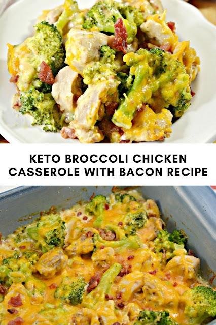 KETO BROCCOLI CHICKEN CASSEROLE WITH BACON RECIPE