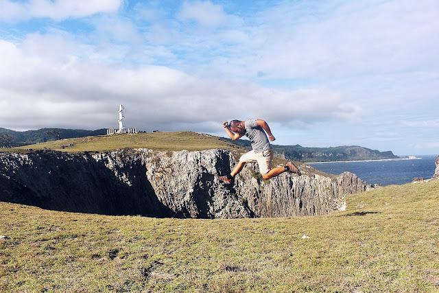 Tom Hardy jumping for joy atop Nagudungan Hill in Calayan Island