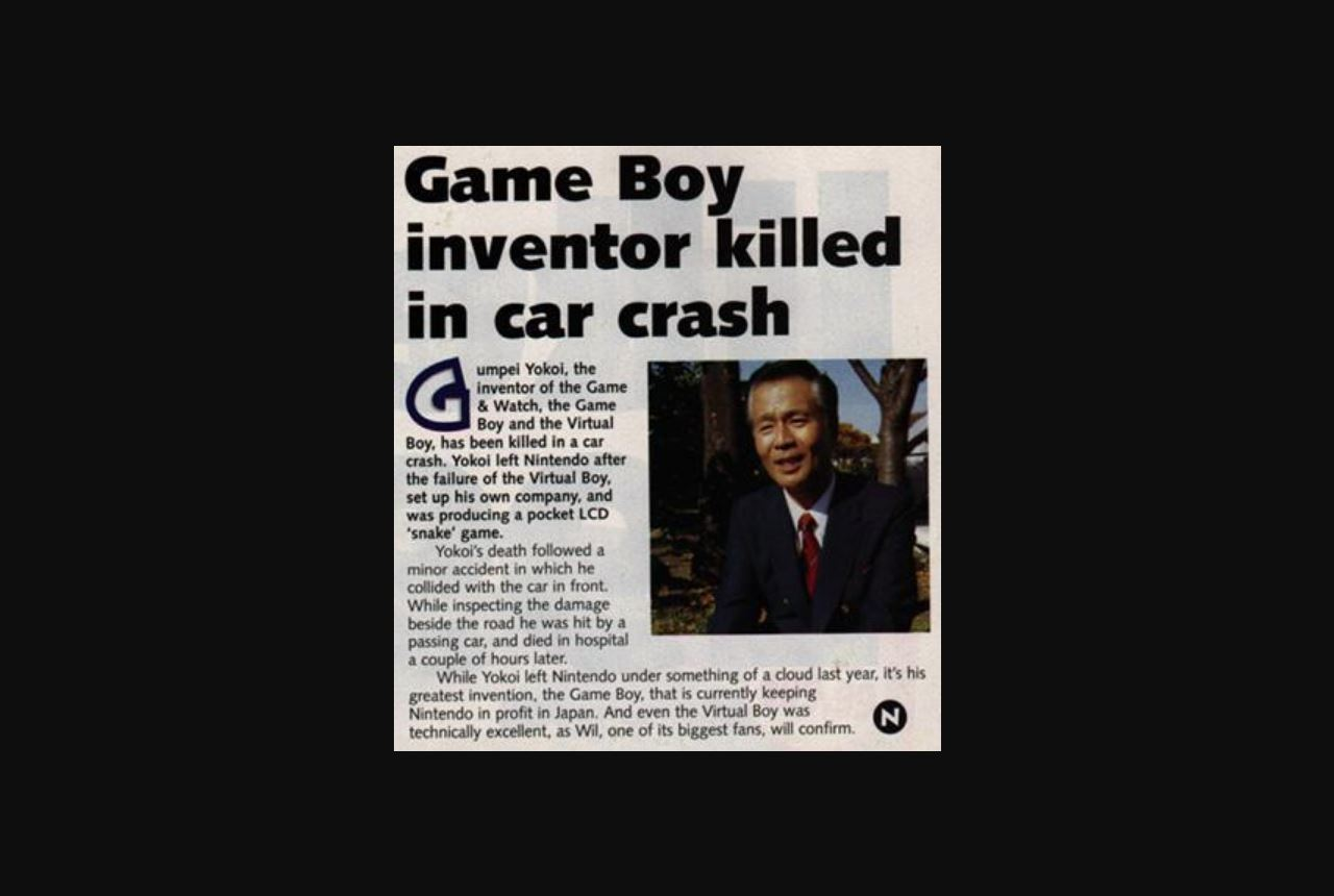 game boy inventor dead