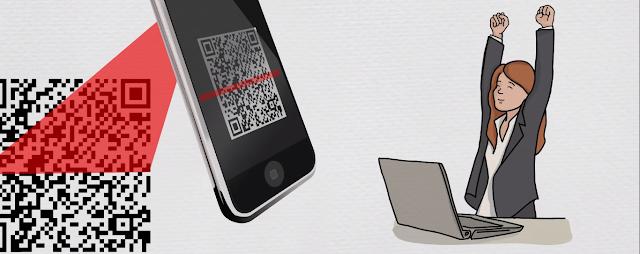 Quét mã QR code bằng điện thoại thông minh