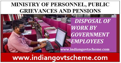 Disposal of Work by Government Empoyees