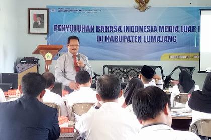 Materi Penyuluhan Bahasa Indonesia Media Luar Ruang Balai Bahasa Jawa Timur Tahun 2019
