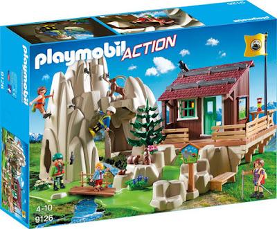 PLAYMOBIL Action 9126 Escalada en roca con cabaña de montaña CAJA JUGUETE