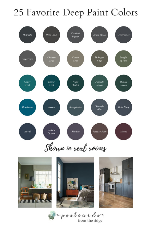 dark paint color palette