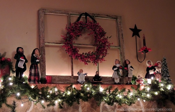 Christmas Carolers on Mantel from Walking on Sunshine Recipes