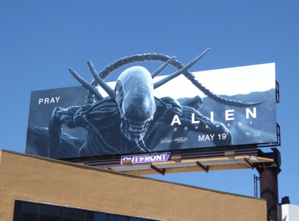 Alien Covenant special extension cut-out billboard