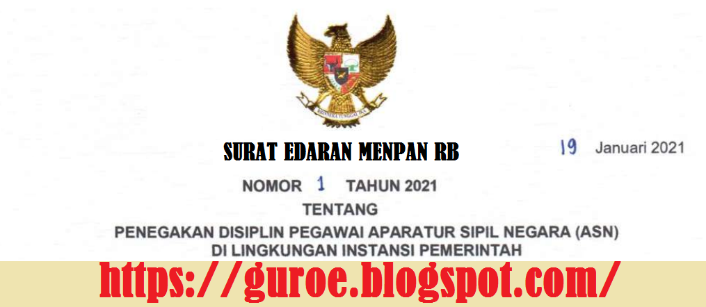 Download Surat Edaran (SE) Menteri Menpan RB Nomor 1 Tahun 2021