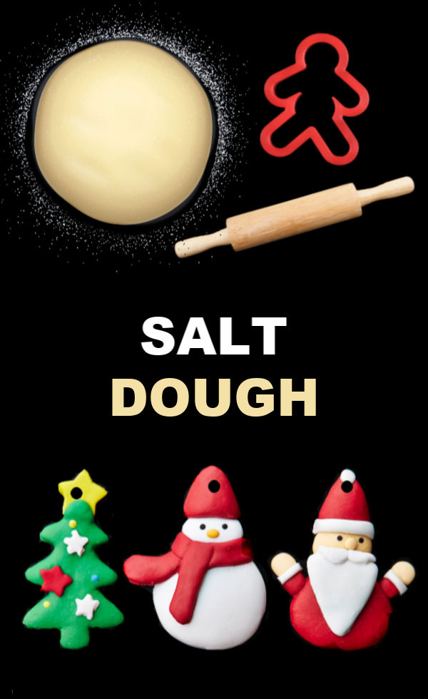Make salt dough for Christmas ornaments, crafts, and more using this easy no-cook recipe. #saltdoughrecipe #saltdoughornaments #saltdough #saltdoughprojects #saltdoughcrafts #saltdoghrecipenobake #ornamentcrafts #ornamentclayrecipe #ornamentclay #howtomakeornaments #ornamentsdiychristmas #christmascrafts #growingajeweledrose #activitiesforkids
