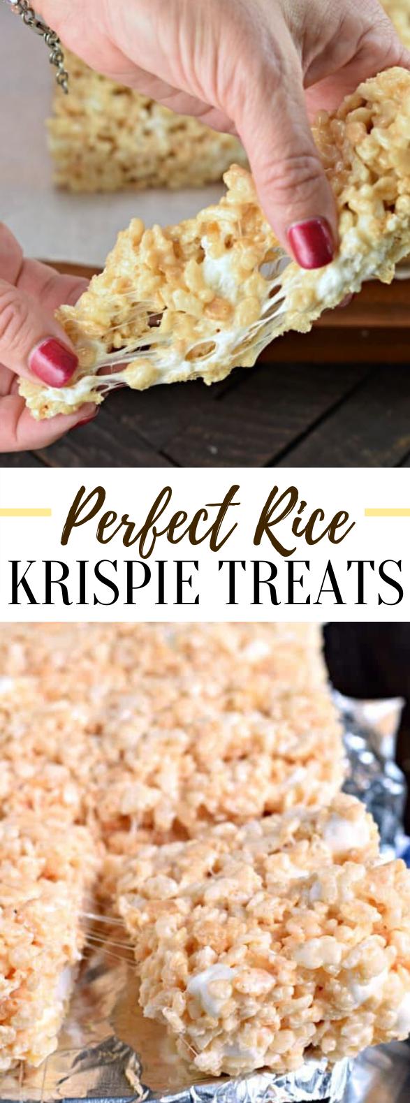 Perfect Rice Krispie Treats Recipe #desserts #kidfriendly