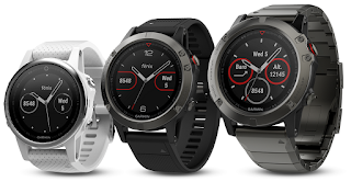 Source: Garmin. The fēnix 5 family of multisport GPS watches.