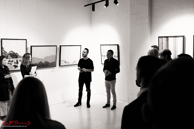 Welcoming speech for Middle Beauty at Vandal -  Photography by Kent Johnson for Street Fashion Sydney.