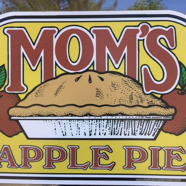 sign outside Mom's Apple Pie in Sebastopol, California