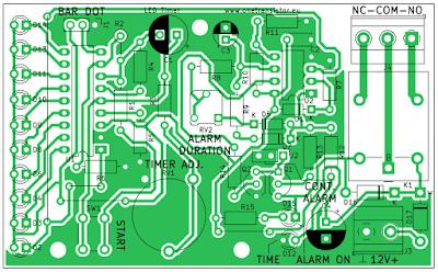 LM3914 timer PCB outline