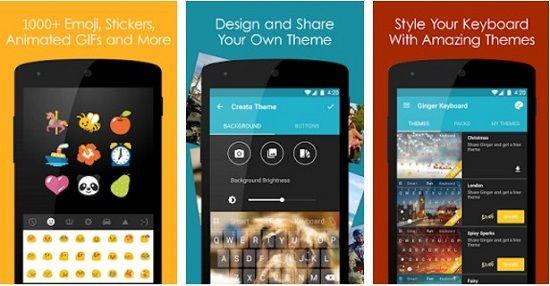 Ginger Keyboard Aplikasi Android Terbaru, Unik dan Keren 2018